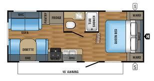 small travel trailer floor plans 2017 jay flight slx 212qbw floorplan gvwr 6000 rv travel