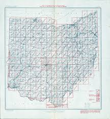 Topographical Map Of Tennessee by