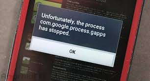 android phone stopped unfortunately the process android phone has stopped fixed error