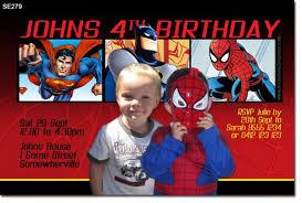 se279 superhero birthday invitation boys themed birthday