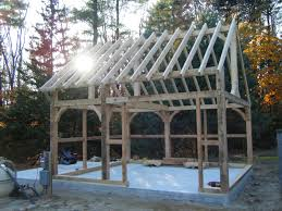 timberframe shed timber frame shed barre mass pool and garden