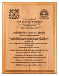 retirement plaque wording coast guardsman s creed plaque retirement gift plaques