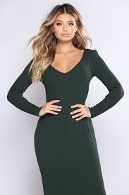 hunter green dress www fashionnova com