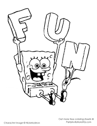 coloring spongebob coloring sheets