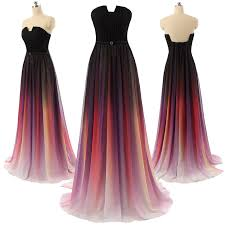 cocktail dress gradient ombre maxi chiffon formal prom dress cocktail dress