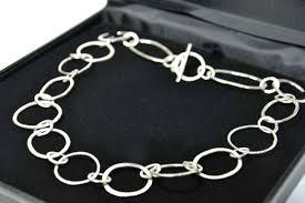 link necklace silver images Sterling silver irregular link necklace sold ironbridge fine jpg