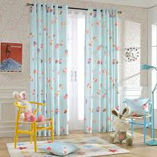 Teal Nursery Curtains Light Blue Nursery Curtains Ice Cream And Polka Dots Patterns