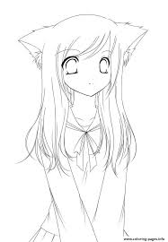 awesome cute anime coloring pages to print contemporary