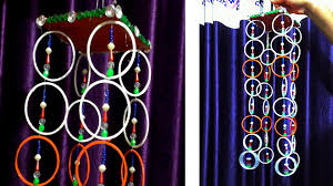 Designs Of Wall Hanging With C D Wall Hanging With Old Bangles Old Bangle Craft Youtube