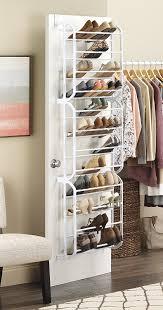 Shoe Rack For Closet Door Whitmor The Door Shoe Rack 36 Pair Storage