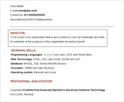 Format For A Resume Example by Resume Objectives U2013 46 Free Sample Example Format Download