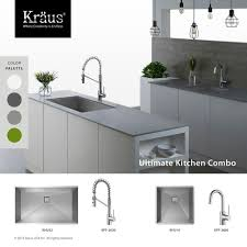 Kitchen Sink And Cabinet Combo by Kitchen Cool White Kitchen Cabinets With Kraus Sinks And Brizo