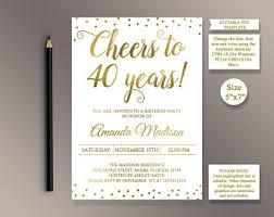40th anniversary invitations 40th anniversary invitations etsy