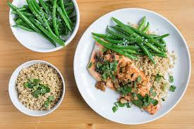 Trout Amandine Trout Amandine With Green Bean Salad U0026 Lemony Bulgur