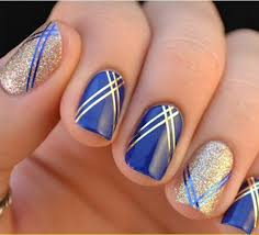 nail art lines beautify themselves with sweet nails