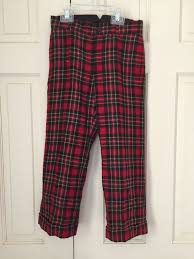 Size 6 Janie And Jack Red Plaid Wool Holiday Christmas Dress Pant
