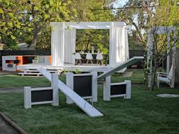 cool home kid friendly backyard design with wooden fences and kids