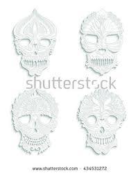 grunge skull ornaments stock vector 57691399