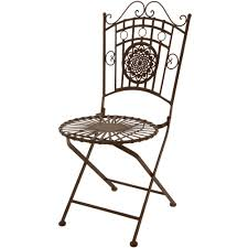 Patio Furniture Wrought Iron Dining Sets - oriental furniture wrought iron garden chair rust patina