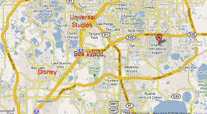 how far from the orlando airport is disney and other theme parks