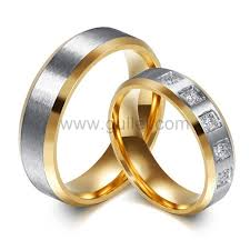 wedding rings set custom titanium wedding rings set for him and personalized