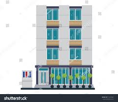 modern flat commercial office building suitable stock vector