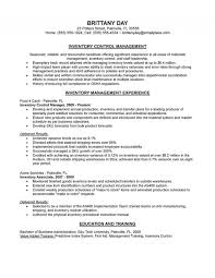 resume exle for inventory manager resume exle for application