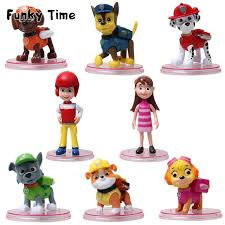free shipping 8pcs kids toys puppy dog patrol cartoon