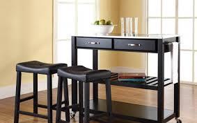 furniture modern black mobile kitchen carts and portable kitchen