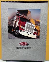 peterbilt truck dealer peterbilt construction trucks dealer sales brochure folder