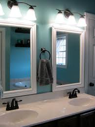 Paint Speckled Pawprints Framed Bathroom Mirrors Great Spaces