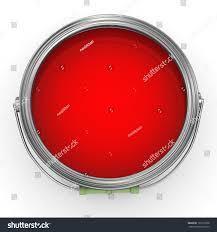 3d render red color paint bucket stock illustration 101215798