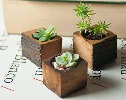 wooden planter etsy