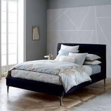 West Elm Bedroom Sale Josef Upholstered Bed Feather Gray Deco Weave West Elm