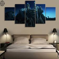 aliexpress com buy minecraft castle 5 pieces canvas painting