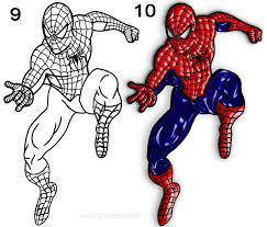 draw spider man step step pictures cool2bkids