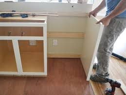 how to install base cabinets with dishwasher dishwasher end panel white