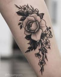 black and white rose tattoo on forearm tattoos u003c3 pinterest