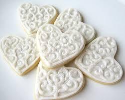 favor cookies unxia silver heart sugar cookies iced wedding favor cookies pearl