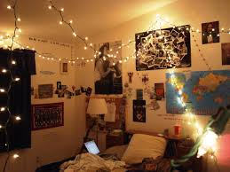 White Hipster Bedroom Bedroom Mesmerizing Hipster Bedroom With Floor Lamp And String