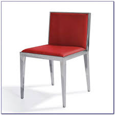 Red Leather Dining Chair White Leather Dining Chairs With Chrome Legs Chairs Home