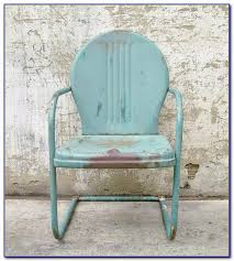 vintage metal lawn chairs original colors chairs home design