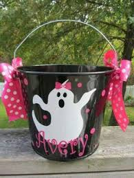 Halloween Buckets Personalized 5 Quart Halloween Bucket Many Colors And Designs
