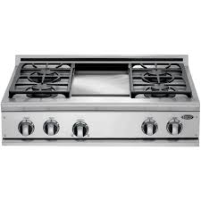 dcs cooktops 36 inch propane gas cooktop with griddle by