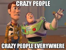 Memes About Crazy People - crazy people crazy people everywhere toy story quickmeme