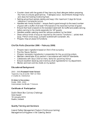 Example Of Chef Resume by Sample Chef Cv For Overseas Jobs