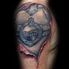 50 police tattoos for men law enforcement officer design ideas