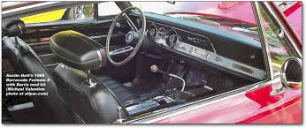 1970 Cuda Interior Plymouth Barracuda The Early Sporty Euro Style Cars