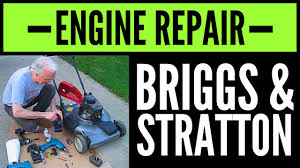 how to fix briggs u0026 stratton small engine that only runs off the