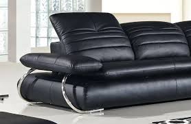 Dobson Sectional Sofa Sectional Black Modern Leather Sectional Baxton Studio Adelaide